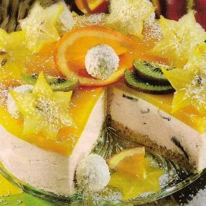 торт суфле с фруктами